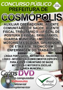Cosmópolis - SP - 2018 - Apostilas Para Nível Fundamental e Médio