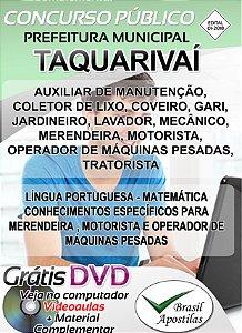 Taquarivaí - SP - 2018 - Apostilas Para Nível Fundamental, Médio, Técnico e Superior