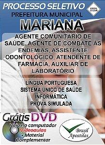 Mariana - MG - 2018 - Apostilas Para Nível Médio, Técnico e Superior