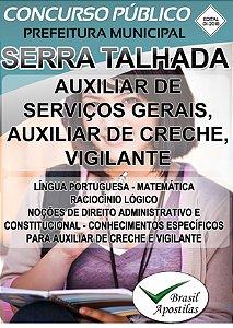 Serra Talhada - PE - 2018 - Prefeitura e Câmara - Apostilas Para Nível Fundamental, Médio, Técnico e Superior - VERSÃO DIGITAL