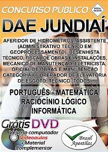 Jundiaí DAE - SP - Apostila Para Nível Fundamental e Médio