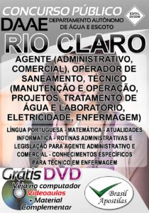 Rio Claro - SP- DAAE - Apostila Para Nível Fundamental, Médio e Técnico