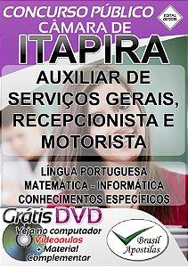 Itapira - SP - 2018 - Câmara - Apostilas Para Nível Fundamental e Médio