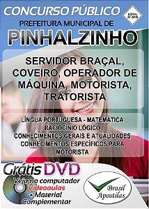 Pinhalzinho - SP - 2018 - Apostilas Para Nível Fundamental e Médio