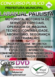 Laranjal Paulista - SP - 2018 - Apostilas Para Nível Fundamental, Médio e Superior