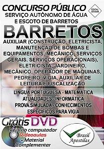 Barretos - SP - SAAE - 2018 - Apostilas Para Nível Fundamental, Médio e Técnico