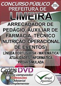 Limeira - SP - 2018 - Apostila Para Nível Médio, Técnico e Superior