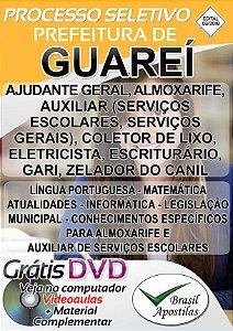 Guareí - SP - 2018 - Apostilas Para Nível Fundamental, Médio e Superior