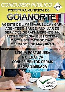 Goianorte - TO - 2018 - Apostila Para Nível Fundamental - VERSÃO DIGITAL