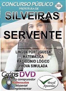 Silveiras - SP - 2018 - Apostila Para Servente