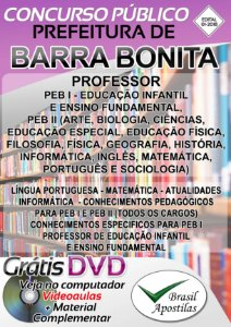 Barra Bonita - SP - 2018 - Apostila Para Professor