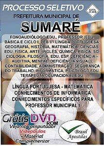 Sumaré - SP - 2018 - Apostila Para Nível Superior