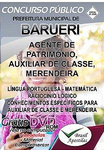 Barueri - SP - 2018 - Apostilas Para Nível Fundamental, Médio e Superior