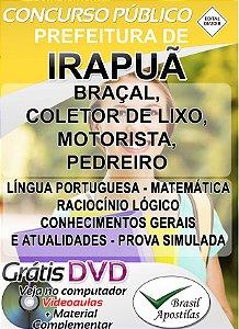 Irapuã - SP - 2018 - Apostilas Para Nível Fundamental, Médio e Técnico