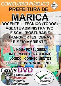 Maricá - RJ - 2018 - Apostilas Para Nível Médio, Técnico e Superior