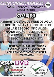 Salto - SP - SAAE - 2018 - Apostilas Para Nível Fundamental, Técnico e Superior