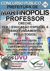 Martinópolis - SP - 2018 - Apostila Para Professor