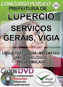 Lupércio - SP- 2018 - Apostilas Para Nível Fundamental, Médio, Técnico e Superior