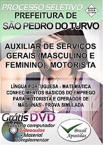 São Pedro do Turvo - SP - 2018 - Apostilas Para Nível Fundamental, Médio e Superior