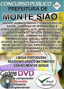 Monte Sião - MG - 2018 - Apostilas Para Nível Fundamental, Médio e Superior