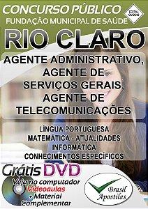 Rio Claro - SP - 2018/2019 - Apostilas Para Nível Fundamental, Médio e Superior