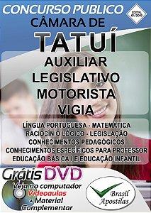 Tatuí - SP - Câmara - 2018/2019 - Apostila Para Nível Fundamental e Médio