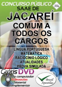 Jacareí - SP - 2018/2019 - SAAE - Apostila Para Nível Fundamental e Médio