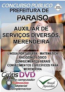 Paraíso - SP - 2018 - Apostilas Para Nível Fundamental, Médio e Superior