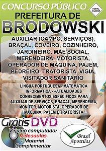 Brodowski- SP - 2018-2019 - Apostilas Para Nível Fundamental, Médio e Superior