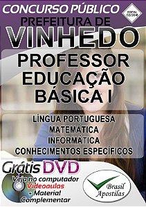 Vinhedo - SP - 2018/2019 - Apostila Para Professor de Educação Básica I