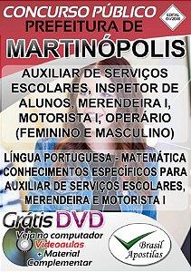 Martinópolis - SP - 2019 - Apostilas Para Nível Fundamental, Médio e Superior