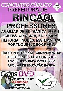 Rincão - SP - 2019 - Apostila Para Professores