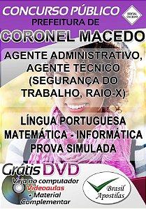 Coronel macedo - SP - 2019 - Apostilas Para Nível Fundamental, Médio, Técnico e Superior