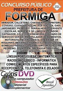 Formiga - MG - 2019 - Apostilas Para Nível Fundamental, Médio, Técnico e Superior