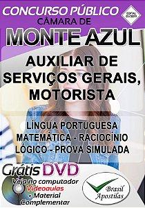Monte Azul - MG - Câmara - 2019 - Apostilas Para Nível Fundamental e Médio - VERSÃO DIGITAL