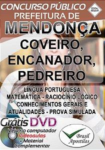 Mendonça - SP - 2019 - Apostilas Para Nível Fundamental, Médio e Superior