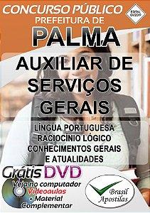 Palma - MG - 2019 - Apostila Para Auxiliar De Serviços Gerais