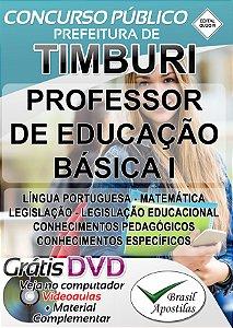 Timburi - SP- 2019 - Apostila Para Professor de Educação Básica I