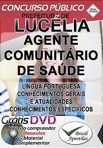 Lucélia - SP - 2019 - Apostila Para Agente Comunitário de Saúde