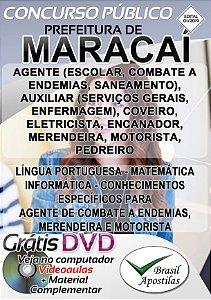Maracaí - SP - 2019 - Apostilas Para Nível Fundamental, Médio e Superior