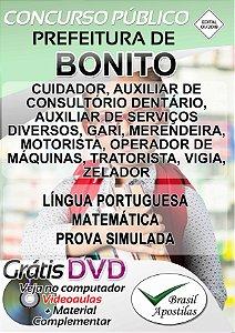 Bonito - MS - 2019 - Apostilas Para Nível Fundamental, Médio, Técnico e Superior