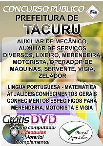 Tacuru - MS - 2019 - Apostilas Para Nível Fundamental, Médio, Técnico e Superior