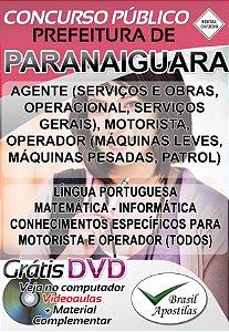 Paranaiguara - GO - 2019 - Apostilas Para Nível Fundamental, Médio e Superior
