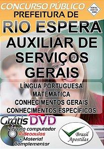 Rio Espera - MG - 2019 - Apostila Para Auxiliar de Serviços Gerais