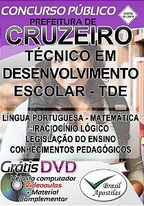 Cruzeiro - SP - 2019 - Apostila Para Técnico em Desenvolvimento Escolar - TDE