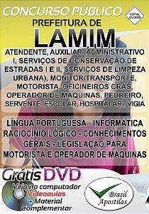 Lamin - MG - 2018/2019 - Apostilas Para Nível Fundamental, Médio e Superior