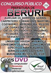Beruri - MA - 2019 - Apostilas Para Nível Fundamental, Médio e Superior - VERSÃO DIGITAL
