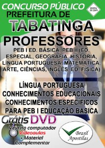 Tabatinga - SP - 2019 - Apostila Para Professores
