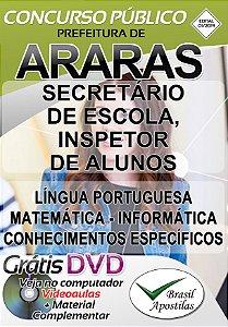 Araras - SP - 2019 - Apostilas Para Nível Médio e Superior