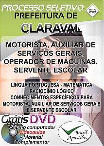 Claraval - MG - 2018/2019 - Nível Fundamental, Médio, Técnico e Superior